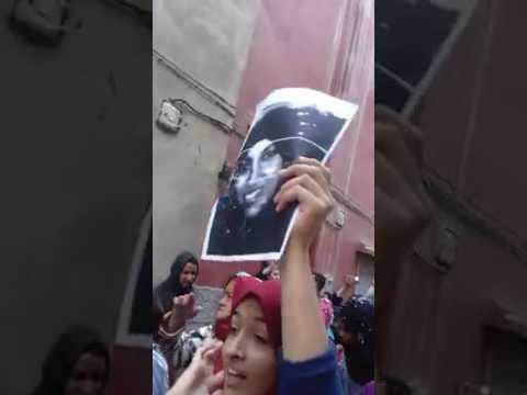 إحتجاجات بالقنيطرة للتنديد بمقتل فتاة قنيطرية