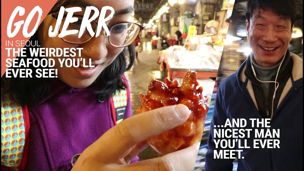 STRANGE sea creatures and a SUPER NICE stall owner at Noryangjin Fish Market