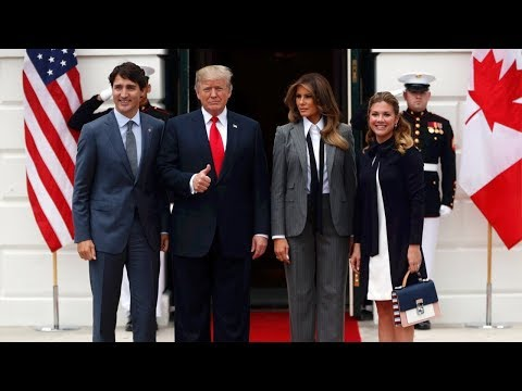 Trudeau arrives at White House for meeting with Donald Trup