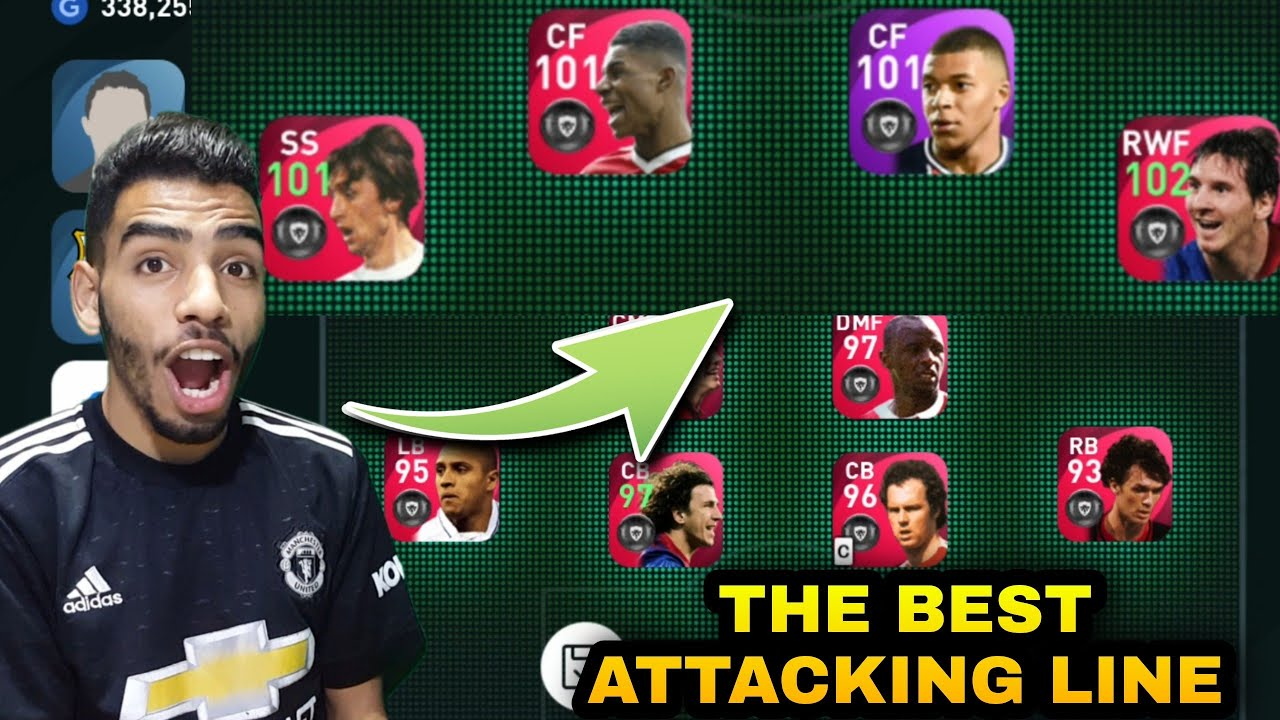 THE BEST ATTACKING LINE IN PES MOBILE 🔥