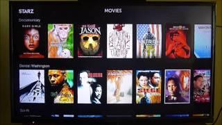 Canal Starz en Roku con películas recientes, otra opción a Netflix.