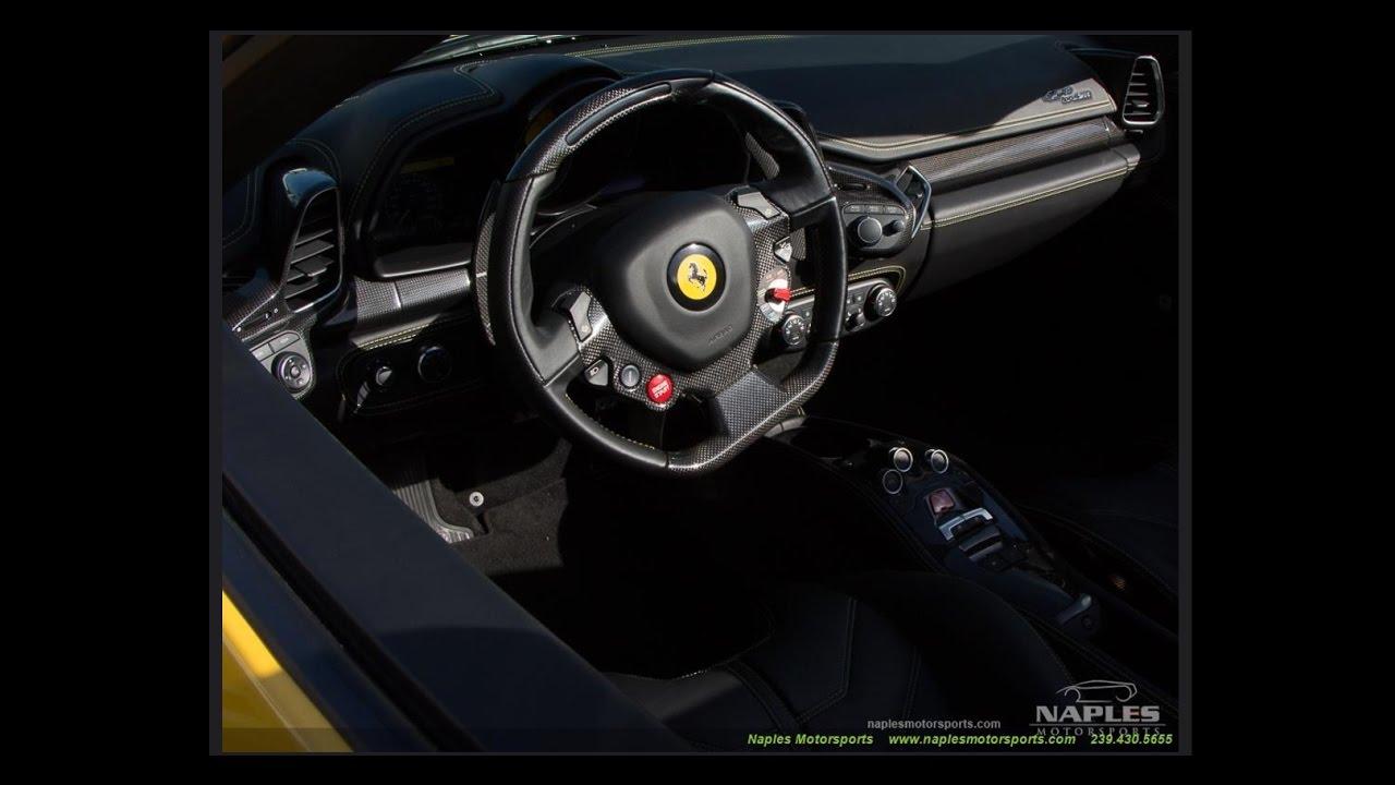 2013 Ferrari 458 Spider At Naples Motorsports With Chris