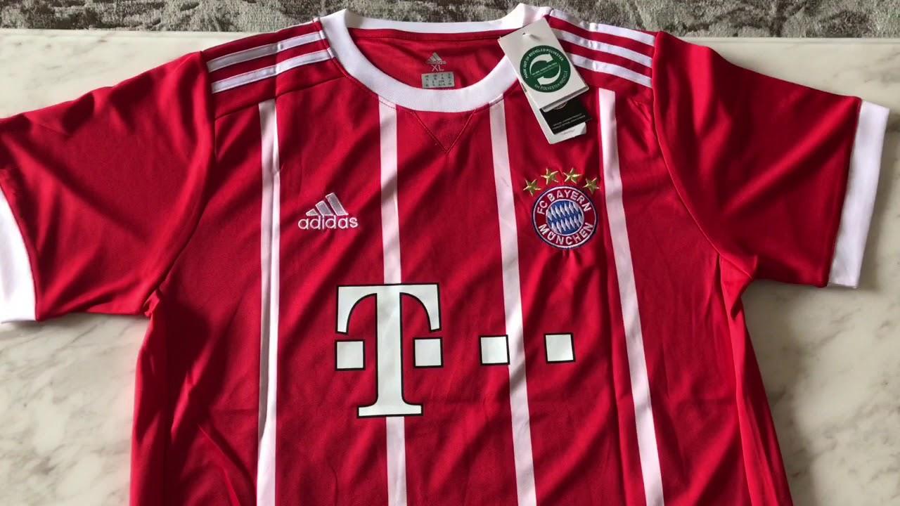2017 2018 Bayern munchen  9 lewandowski home jerseys unboxing - YouTube c7e368e25