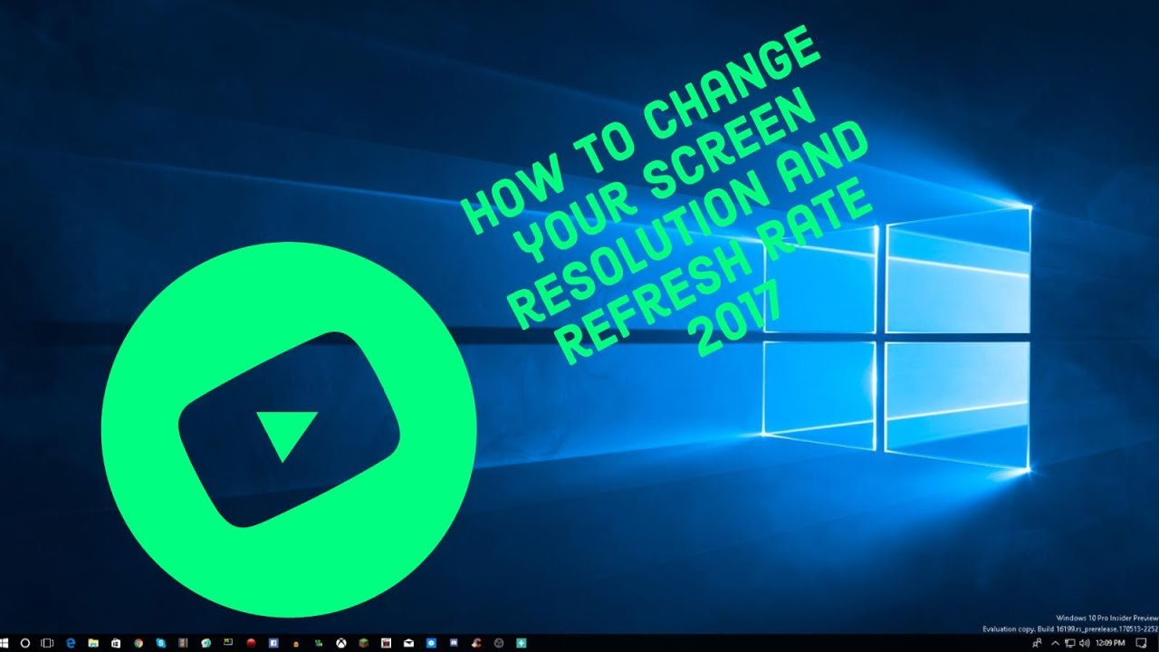 how to change your screen resolution windows 10