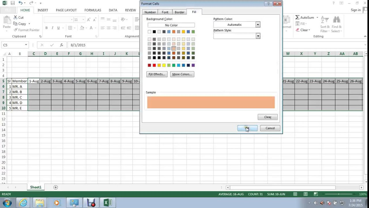 Cell Color Change Based On Value Change In Excel By Using Conditional Formatting