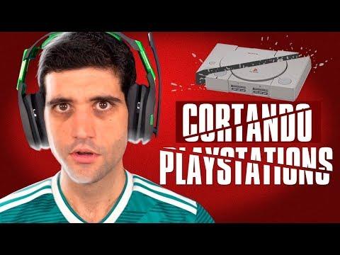 Playstations sendo CORTADOS com ÁGUA, nunca vi na minha VIDA