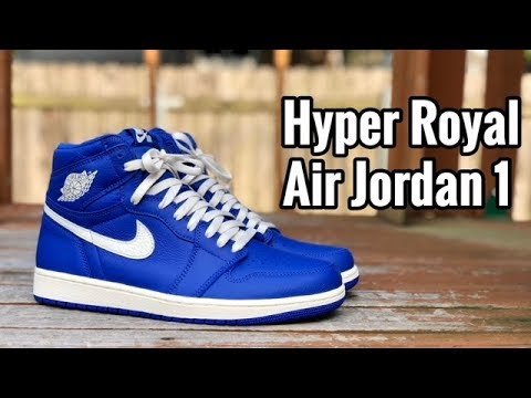 "cae001366e0c09 Air Jordan 1 ""Hyper Royal"" review - YouTube"