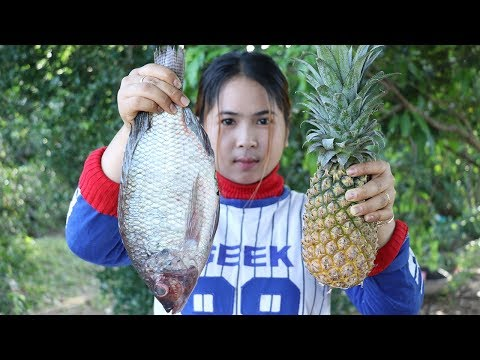 Awesome Cooking Fish With Pineapple Delicious Recipe – Cook Fish Recipes – Village Food Factory