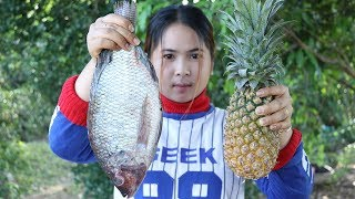 Awesome Cooking Fish With Pineapple Delicious Recipe - Cook Fish Recipes - Village Food Factory