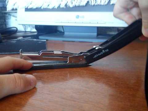как починить степлер и зарядить степлер
