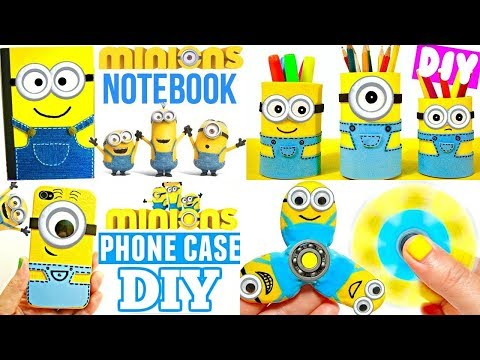 DIY SCHOOL SUPPLIES for Back to School | Easy & Cute MINIONS CRAFTS