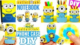 DIY SCHOOL SUPPLIES for Back to School   Easy & Cute MINIONS CRAFTS
