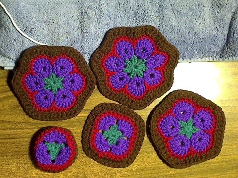 African Flower Tiles For Crocheted Animals Youtube