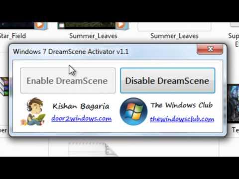 como descargar DreamScene para Windows 7