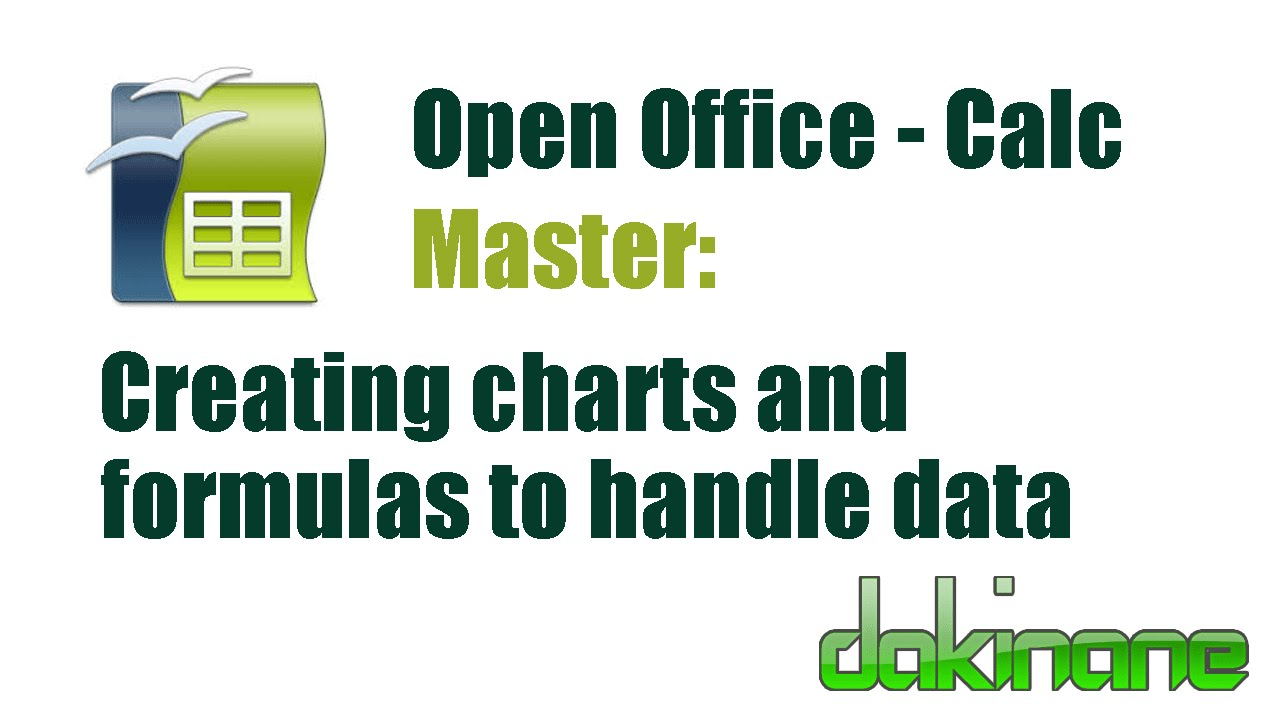 Open Office Calc - Charts and Formulas