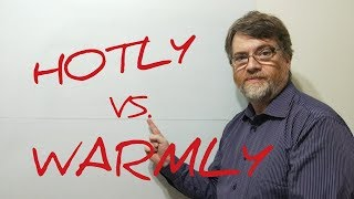 English Tutor Nick P Lesson (400) The Difference Between Hotly and Warmly
