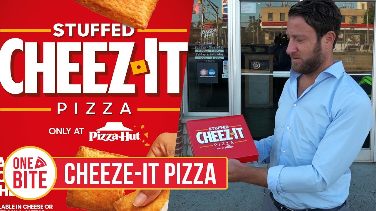 Barstool Pizza Review Pizza Hut Cheeze It Pizza