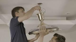 Installing of ORIENT ELEGANZA EZ-01 AIR LUXURY CHANDELIER FAN