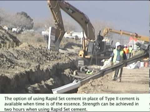 Type Ii Concrete Slurry Mix Used Over Concrete Pipe In
