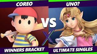 Smash Ultimate Tournament - Coreo (Ness) Vs. uNO? (Zelda) S@X 307 SSBU Winners Round 3