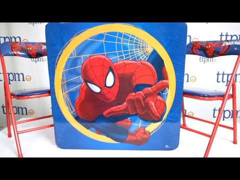 Spiderman Table And Chairs Lumbar Pillow For Chair Marvel Ultimate Spider Man Set From Kids Only Youtube