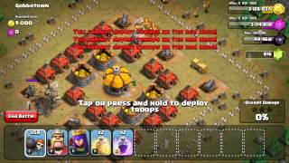 Attacking with all wall breakers!!!! 110 level 5 wall breaker attack. Clash of Clans