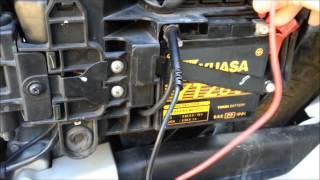 CG Titan 150 Flex - Teste de Bateria - Multímetro Digital