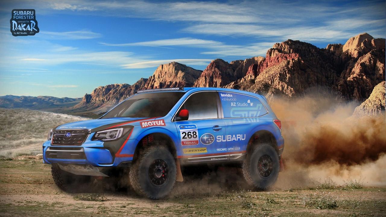 Subaru Forester Dakar Speedart Virtual Tuning Youtube