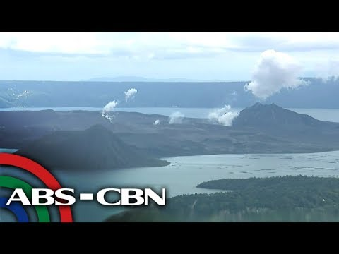 Live Shot Of The Taal Volcano (25 January 2020) | ABS-CBN News