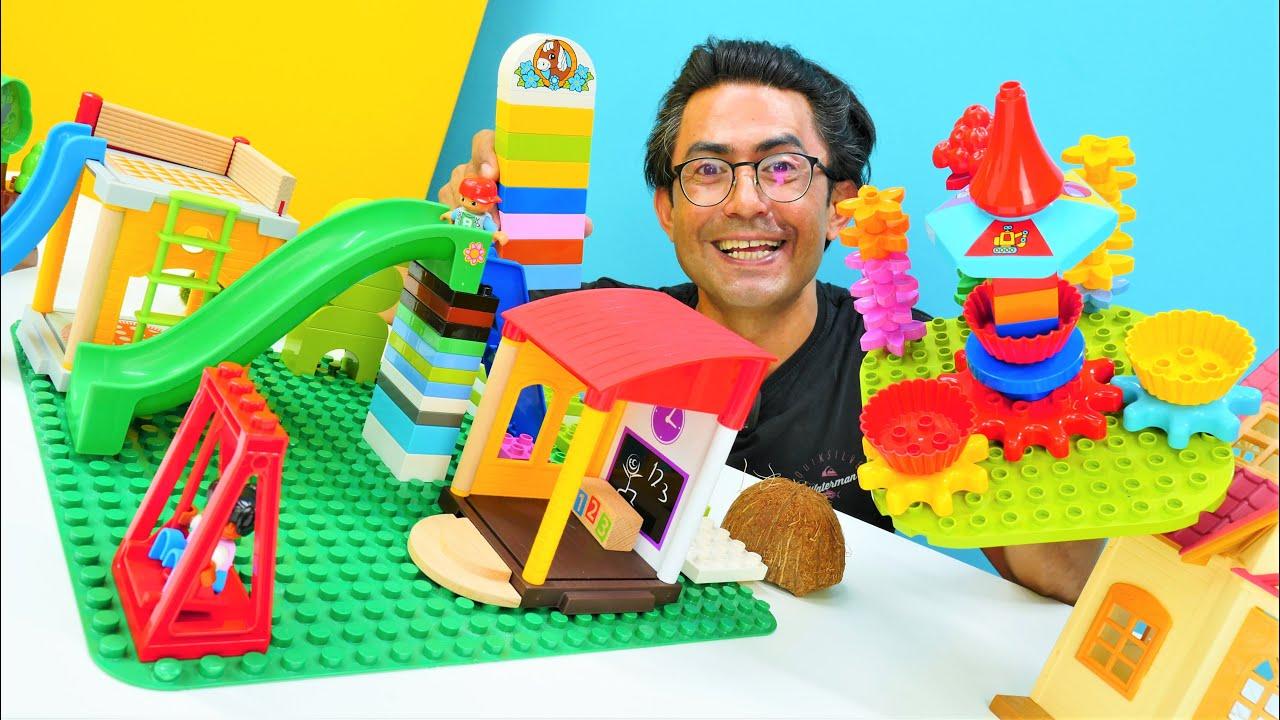Download Lego Duplo. Oyuncak arabalar ile güvenli çocuk parkı inşaa ediyoruz. Eğitici video
