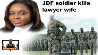 Jamaican JDF soldier done him lawyer wife