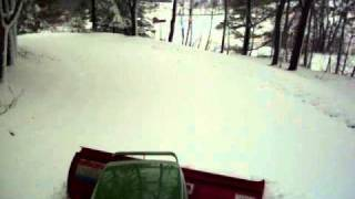 4300 Deere snowplowing 1