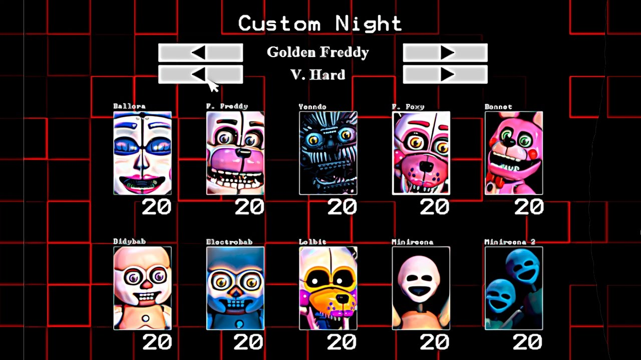 Fnaf: Sister Location Custom Night - Five Nights Freddy's.com