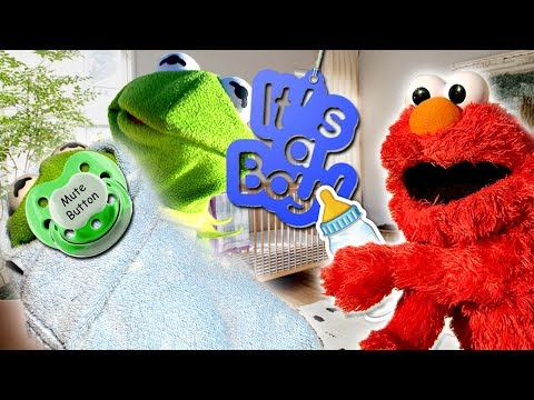 Elmo Meets Kermit The Frogs Baby Brother!