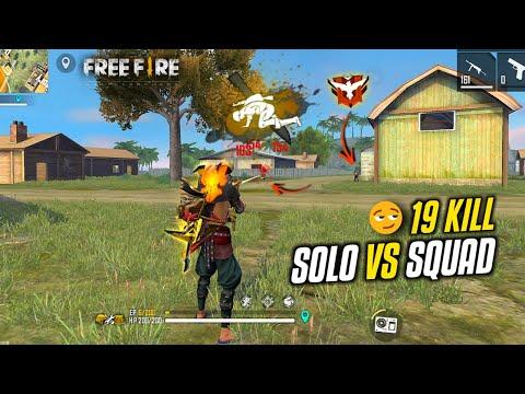 Op Solo vs Squad 19 Kill Enemy try to Escape - Garena Free Fire