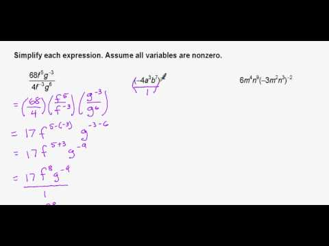simplifying algebraic expressions with exponents