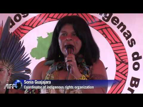Brazilian indigenous people protest over land