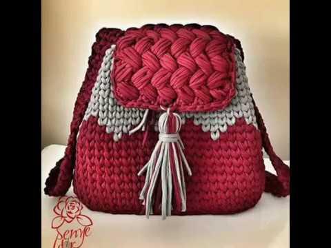 Handmade Crochet Backpack Rucsaci Crosetati Youtube