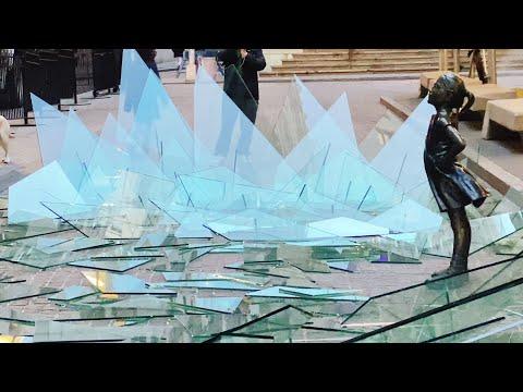 Fearless Girl Breaks Glass Ceiling - International Woman's Day [4K]
