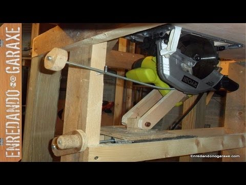 Sistema elevaci n para sierra de mesa homemade table saw lift youtube - Mesa para circular ...