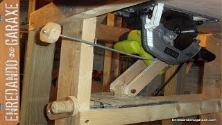 Sistema elevación para sierra de mesa. Homemade table saw lift