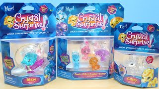 Crystal Surprise Lucky Sparkling Pets with Surprise Charms To Collect