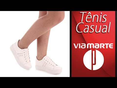 ddc96db31a Tênis Casual Feminino Via Marte - 6100206403 - YouTube
