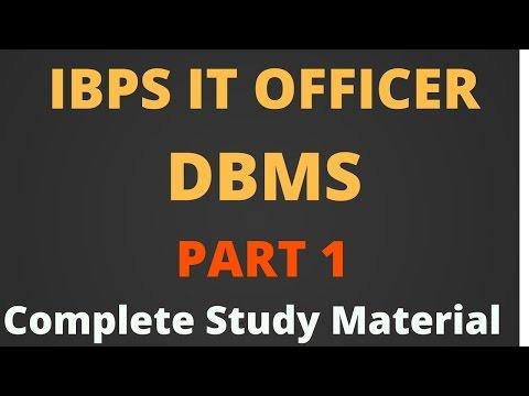 IBPS SO IT OFFICER - DBMS Part 1 [Hindi]