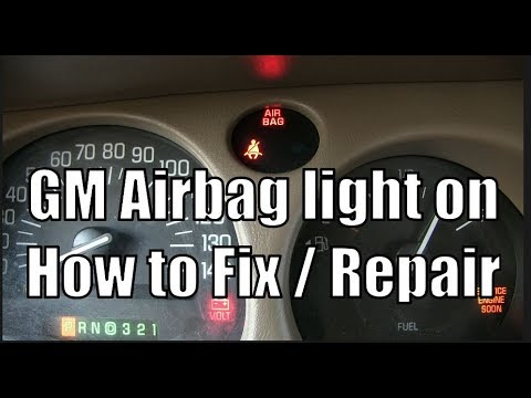How to Repair / Fix a GM Airbag Light On (Sensor Replacement) – 2005 Buick LeSabre