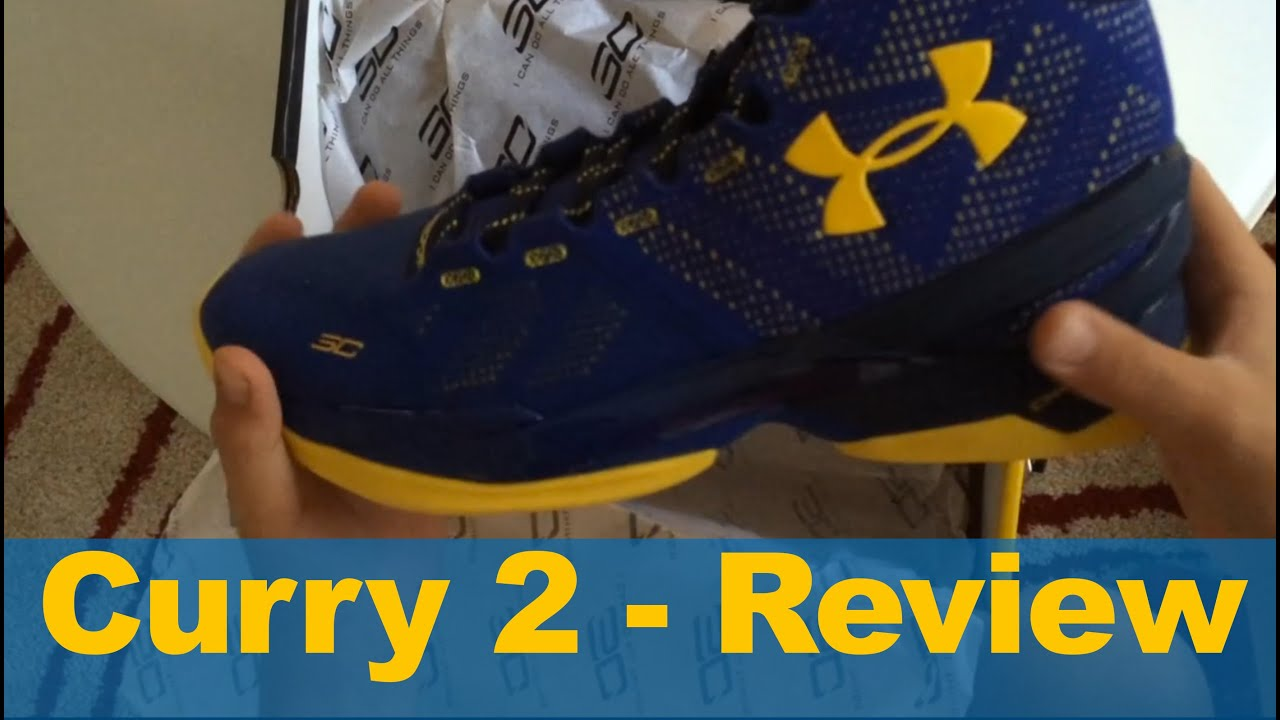 Curry Two Under Armour Unboxing And Review Cobalt Blue Yellow