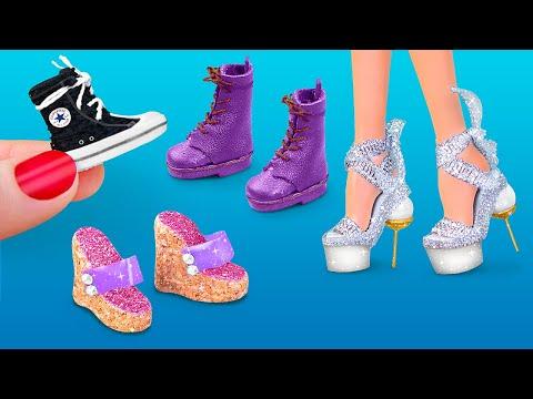 Миниатюрная обувь для Барби - 6 идей!
