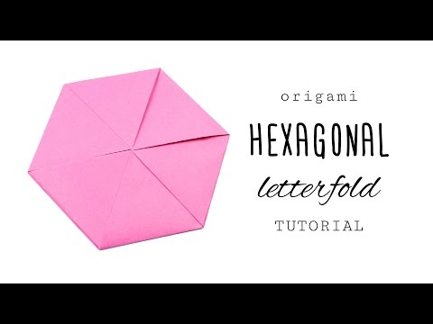 Origami Hexagon Letterfold Tutorial - Paper Kawaii