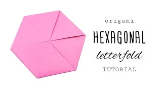 Origami Hexagon Letterfold Tutorial - Paper Kawaii