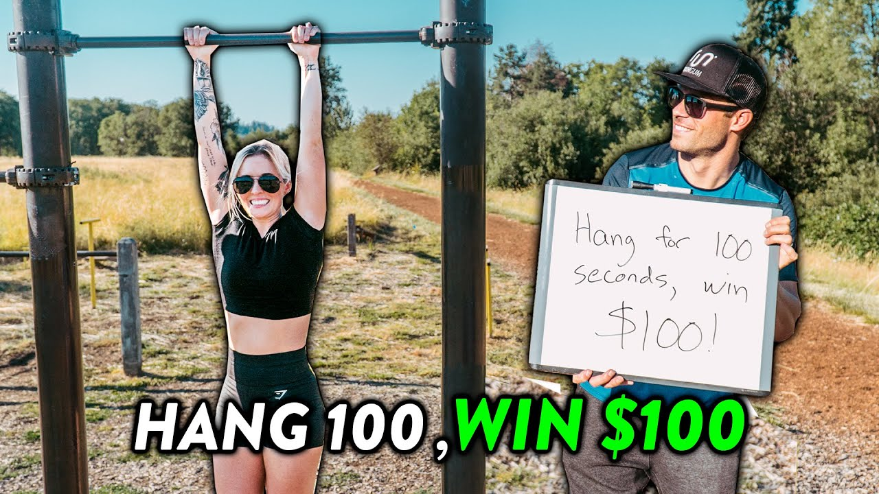 Hang For 100 Seconds, Win $100 vs. Strangers at the Park